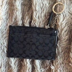 Coach small card holder key chain. Used. Good cond